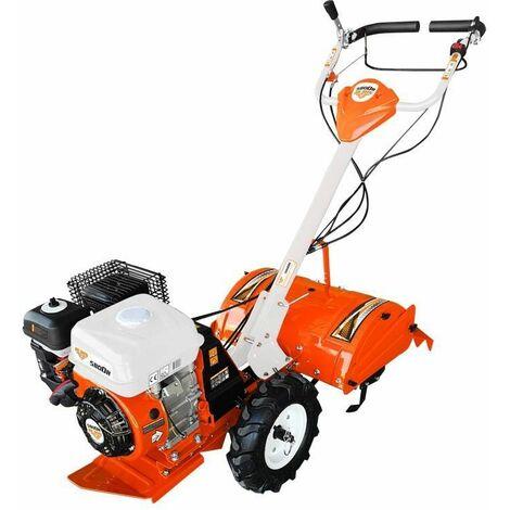 Motoculteur thermique fraise arrière 7 Cv vitesse transmission fonte 1AV 1AR Ruris 5800FR - Orange