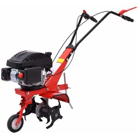 Motocultivador de gasolina 5 HP 2,8 kW rojo
