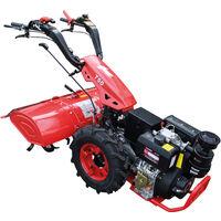Motocultor con motor a diesel 12HP y arranque eléctrico.