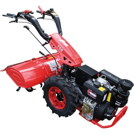 Motocultor Con Motor a Diesel 12HP y Arranque Eléctrico - Kawapower