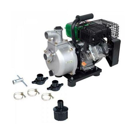 Motopompe portable à eau thermique sur chariot 93cc débit 18m3 heure