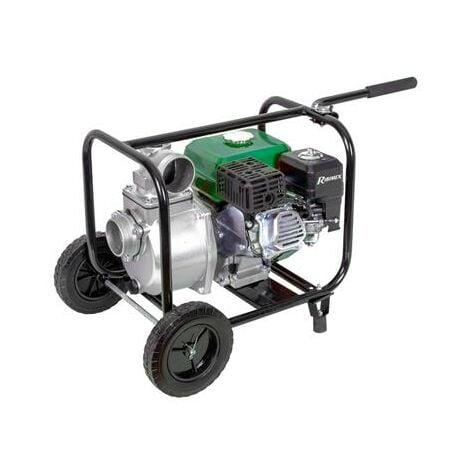 Motopompe thermique essence eaux claires 6 hp 212 cc 60m3 par heure sur roues