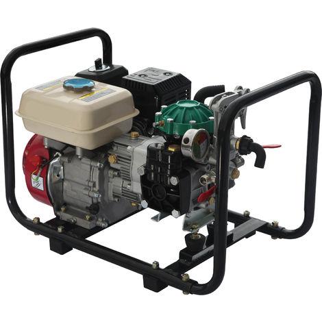 Motor 196CC 6,5hp a gasolina a 4 tiempos y Grupo de pulverizacion de membranas max 40bar y salida máx. 35L/min.