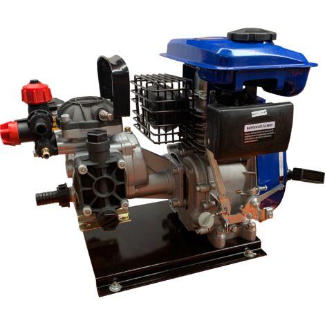 Motor 80CC 2,5hp a gasolina a 4 tiempos con Grupo de pulverizacion y salida máx. 20L/min.