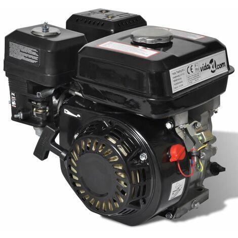 Motor de gasolina negro de 6,5 HP y 4,8 kW