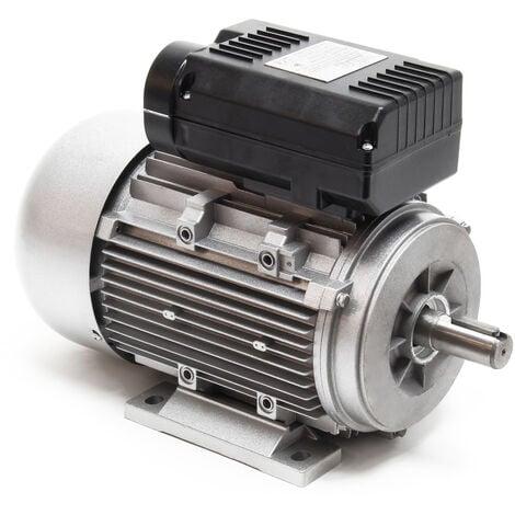 Motor eléctrico monofase profesional Bobinado cobre Carcasa aluminio 2Polos 230V 1.5kW 2850rpm IP55