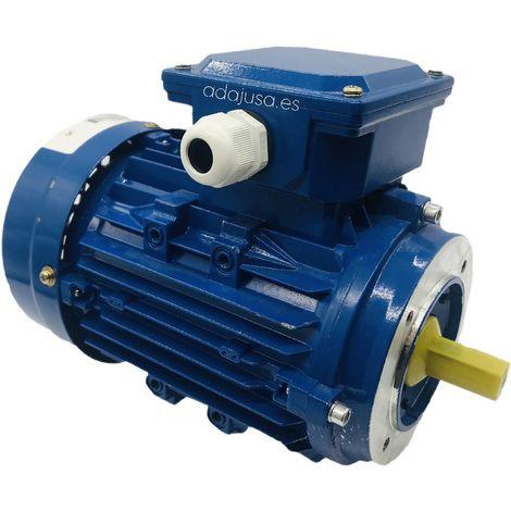 Motor monofásico 1,1Kw 1,5CV 230V 1500 rpm medio par de arranque, Brida B14