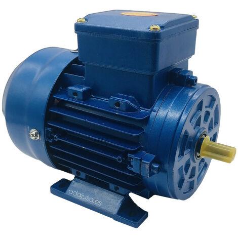 Motor monofásico 1,1Kw 1,5CV 230V 1500 rpm medio par de arranque, Brida B3 patas