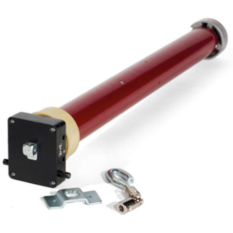 Motor Tubular Mecánico 59 mm. Con Accesorio para adaptar manivela al motor.