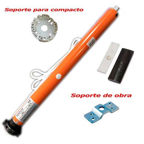 Motor Tubular Via Radio para toldos y persianas - 45 mm - 50 Nm - 90 Kg + Mando