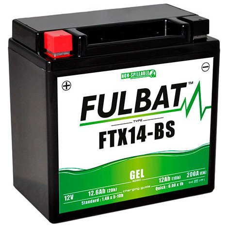 afac729c Motorcycle battery Gel YTX14-BS / FTX14-BS 12V 12Ah - MOT8719