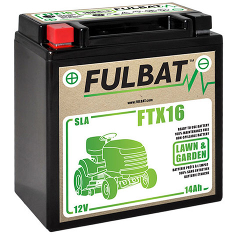 Motorcycle battery / Lawnmower battery YTX16 / FTX16 / YTX16-BS 12V 14Ah - 532 4