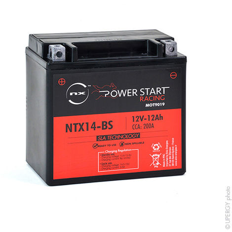 Motorcycle battery YTX14-BS / NTX14-BS AGM 12V 12Ah