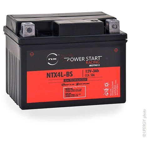Motorcycle battery YTX4L-BS / NTX4L-BS AGM 12V 3Ah