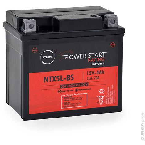 Motorcycle battery YTX5L-BS AGM 12V 4Ah