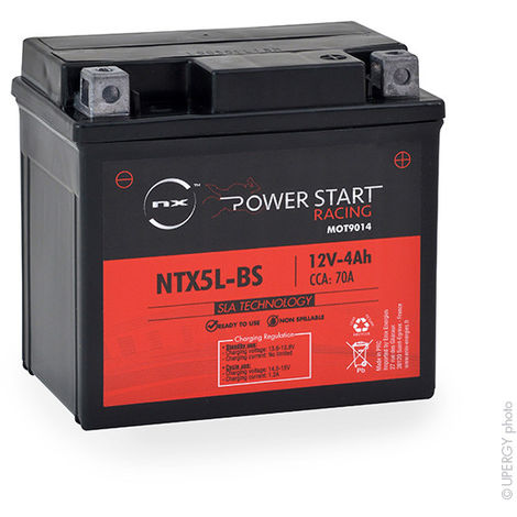 Motorcycle battery YTX5L-BS / NTX5L-BS AGM 12V 4Ah