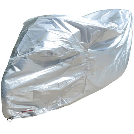 Motorcycle cover 210D Oxford cloth silver 220 * 95 * 110CM