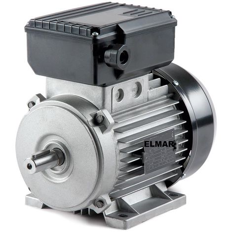 "main image of ""Motore Elettrico Monofase Hp 1 Kw 0,75 1400 Giri Mec80 B3 Albero 19 Mm Con Piedini 230 V"""