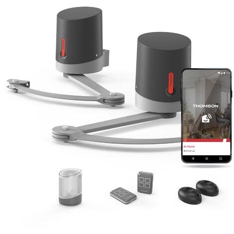 Motorisation à bras articulés pour portail à deux battants - Sésame 250 - Thomson Connecté à votre smartphone Android ou Apple - Connecté à votre smartphone Android ou Apple