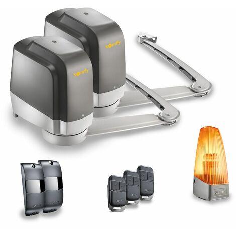 Motorisation de portail battant à bras Lockyvia Essential avec 3 télécommandes Keypop - Somfy 1241770