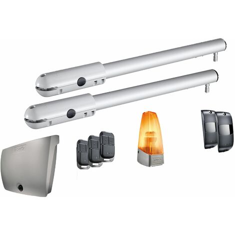 Motorisation de portail battant à vérin Somfy SGS Essential avec 3 télécommandes - 1241525