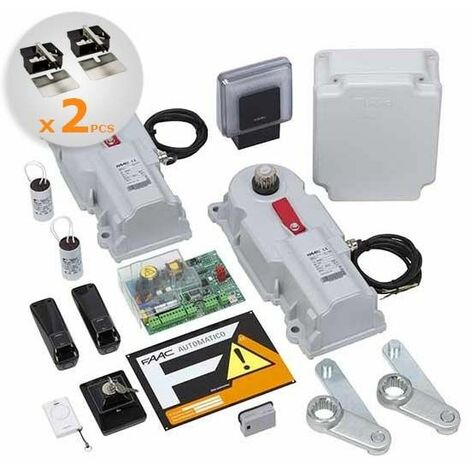 Motorisation portail 2 battants enterré FAAC Power-Kit 24V Integral 106747144