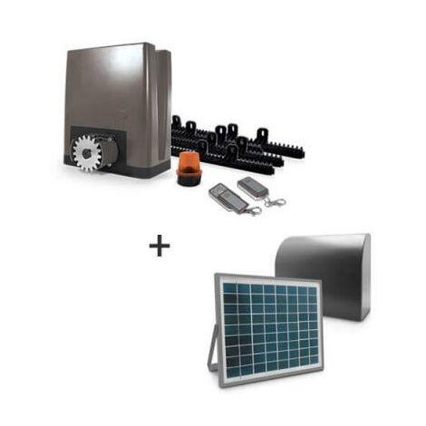 """main image of """"Motorisation pour portail coulissant PVC, bois, alu, acier – OREA 500 PLUS (24V) - Motorisation + alimentation solaire"""""""