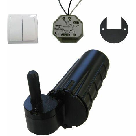 Motorisation volet 1 battant droit URANUS filaire - gond Ø 12 - Noir