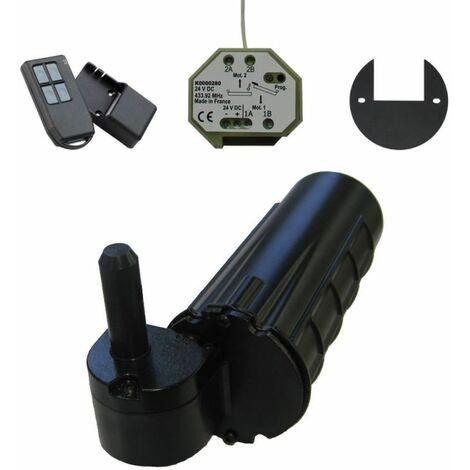 Motorisation volet 1 battant droit URANUS radio - gond Ø 12 - Noir