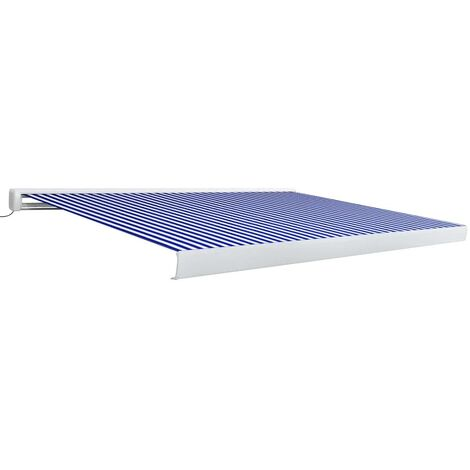 Motorised Cassette Awning 400x300 cm Blue and White
