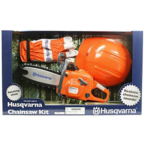 Motosega giocattolo con kit sicurezza Husqvarna