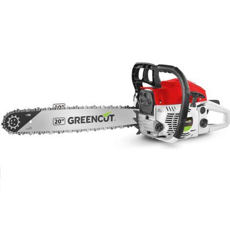 """main image of """"Motosierra de gasolina GS620X, motor 2 tiempos 62cc, potencia 3.8cv, Espada de 20"""", 86 dientes y manillar ergonómico - Greencut"""""""
