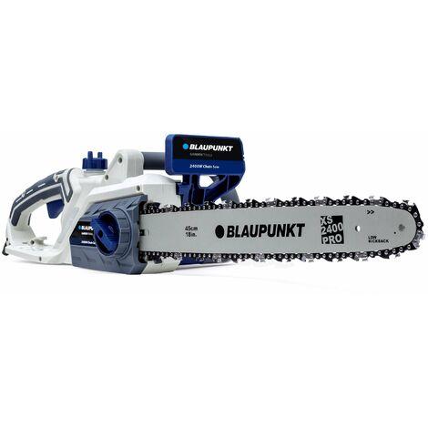 Motosierra Eléctrica professional Blaupunkt CS4000 - 2400w - Bajo contragolpe - espada de 44Cm - Sistema SDS