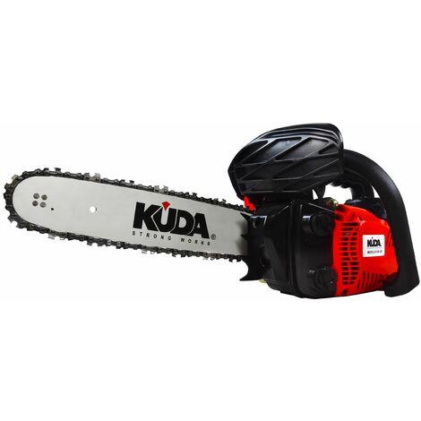 "Motosierra gasolina poda KUDA 25,4cc 12"" espada, podadora de una mano de 3,45Kg"