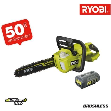 Motosierra RYOBI 36V LithiumPlus Brushless - 1 batería 5.0Ah - 1 cargador RY36CSX35A-150