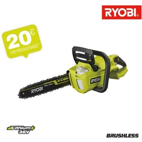 Motosierra RYOBI 36V LithiumPlus Brushless - Sin batería ni cargador RY36CSX35A-0