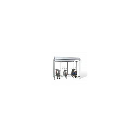 Mottez abris pour 6 vélos motos en dôme B814C