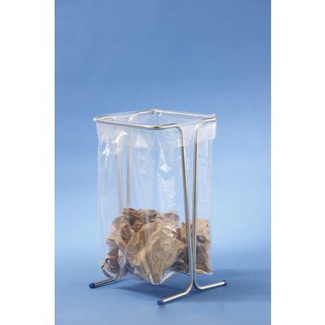 MOTTEZ - Support sac poubelle fixe 100-110 litres - Zingué - B015CNM