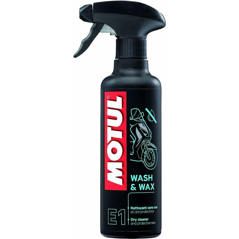 E1 Wash & Wax 102996 Spray nettoyant sans Eau et Cire protectrice 400 ML - Motul