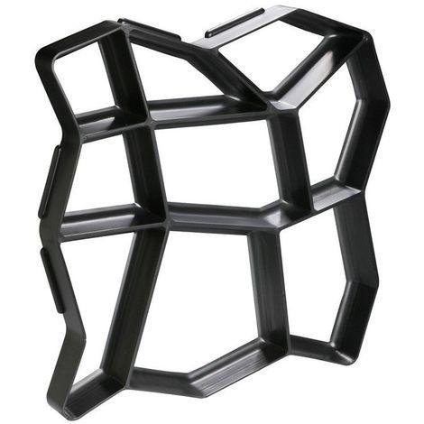 Moule à pavé béton 42 x 42 x 4 cm Noir