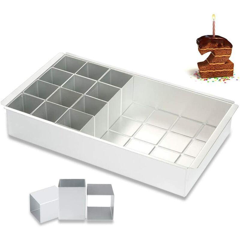 Moule en aluminium, moule à chiffres, moule à chiffres, grand pour anniversaire, mariage, anniversaire, gâteau, emporte-pièce