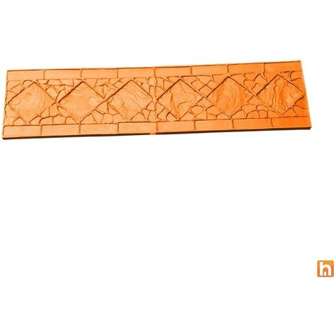 Moule imitation bordure avec frise - Harmony Béton
