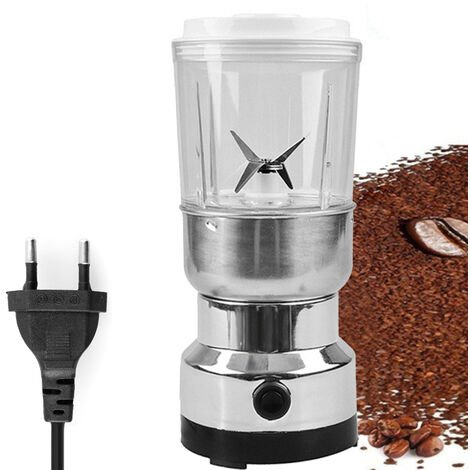 Moulin A Grain Electrique En Acier Inoxydable Herb Pulverizer Moulin 2-In-1 Menages Superfine Poudre Broyage Machine Puissante Moulin A Cafe, 220-240V