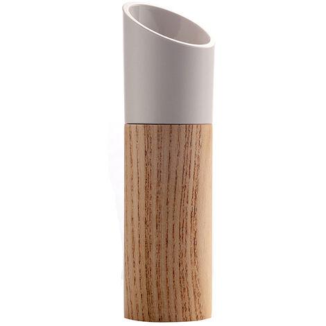 Moulin a poivre noir manuel en bois blanc