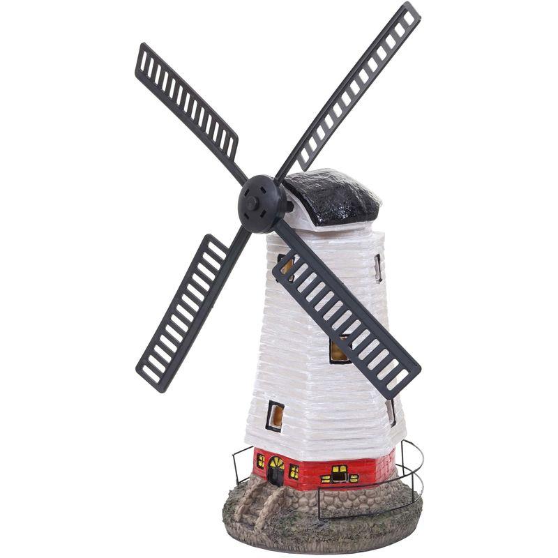 Moulin A Vent Solaire Led Hhg 201 Decoration De Jardin Terasse Pour L Interieur Exterieur 68893