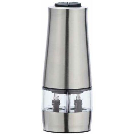 Moulin électrique 2en1 avec lampe inox