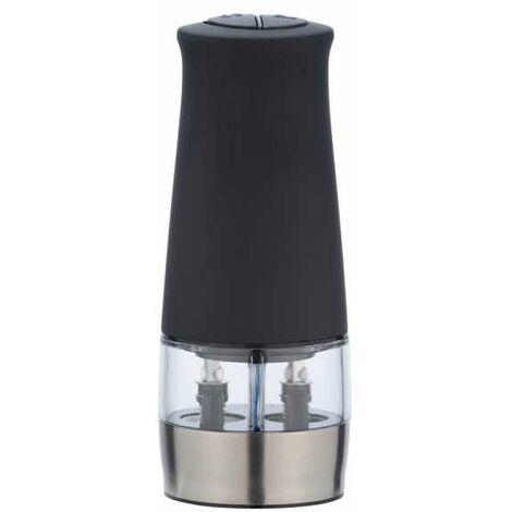 Moulin poivre et sel électrique 2en1 lumineux, noir