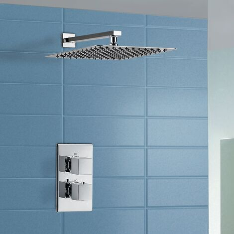 Moulin Thermostatic Wall Mounted Waterfall Shower