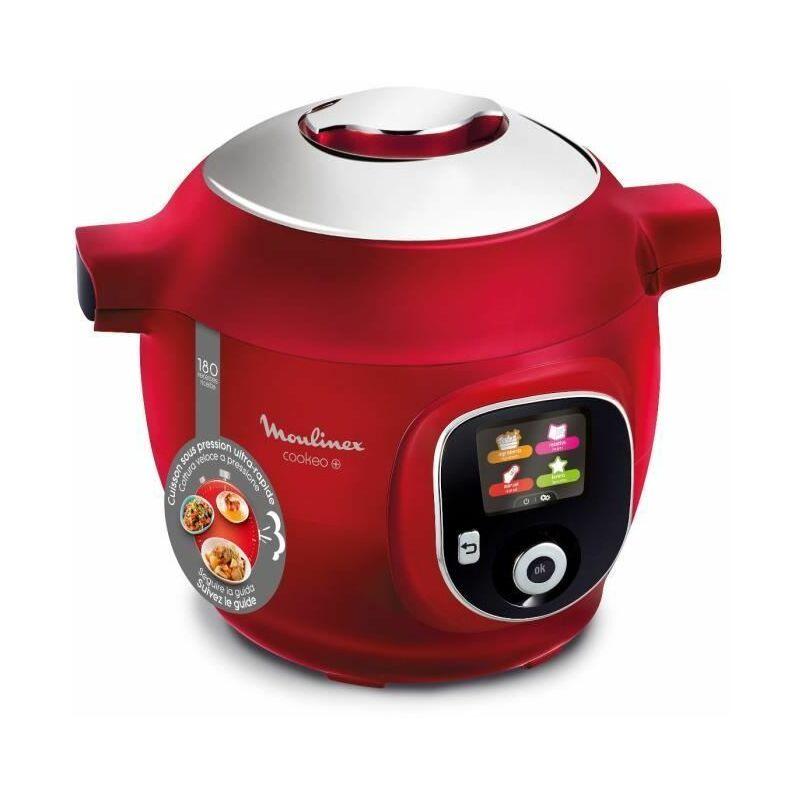 CE85B510 Multicuiseur intelligent COOKEO + 6 L - 180 recettes préprogrammées - Rouge - Moulinex
