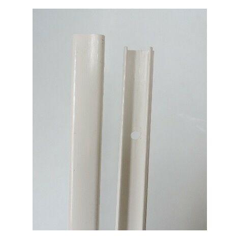 Moulure blanche 12x20mm 1 compartiment sans halogène (au mètre) avec couvercle OptiLine Mini SCHNEIDER ELECTRIC ISM14130P